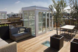 Toit-terrasse aménagé
